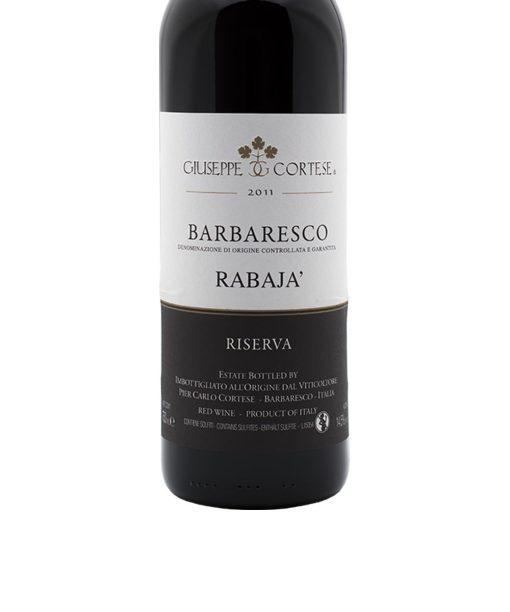 cort6 barbaresco docg rabaja riserva 2011 giuseppe cortese etichetta
