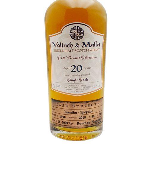 whisky tamdhu 20 y.o. valinch & Mallet