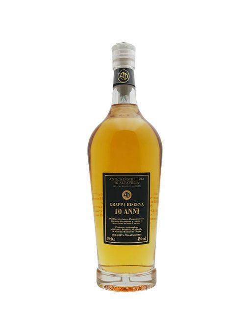 grappa riserva 10 anni distilleria di alta villa